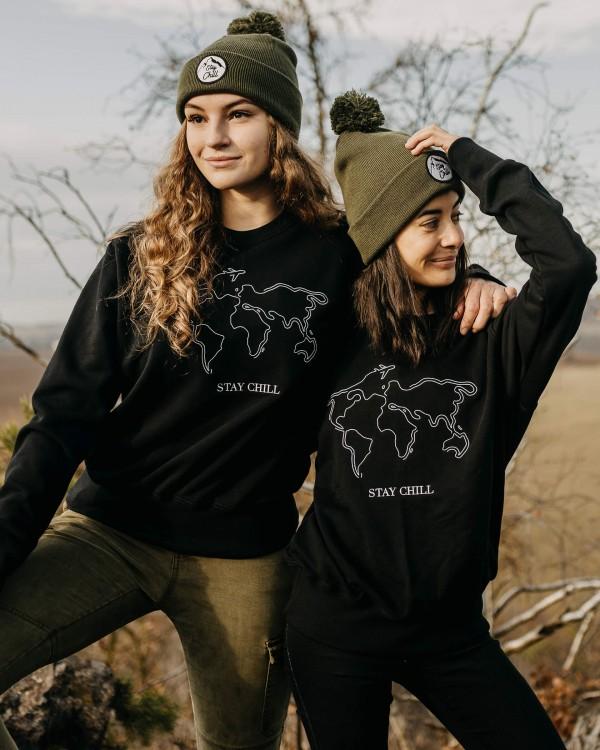 Oversized mikina MAP- černá